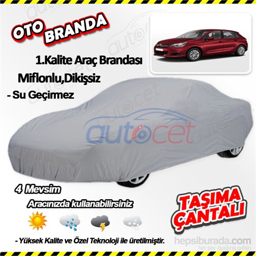 Autocet Citroen C4 Araca Özel Oto Brandası (Miflonlu, Dikişsiz) 3968A