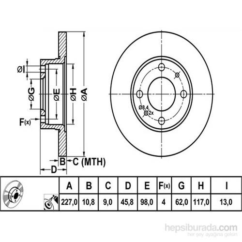 Bosch - Fren Diski Ön (Fıat 131) - Bsc 0 986 478 063