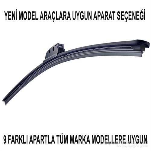 Silecek Marka Model Uyumlu 9 Aparatlı 38 cm
