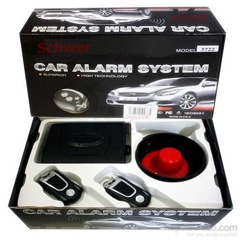 Schwer Oto Alarm Siyah Gümüş