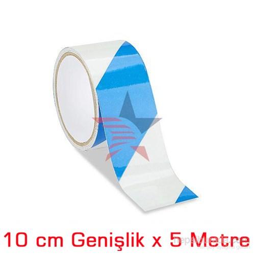ModaCar BEYAZ/MAVİ 10 Cm Çarpraz Fosfor Bant 548808