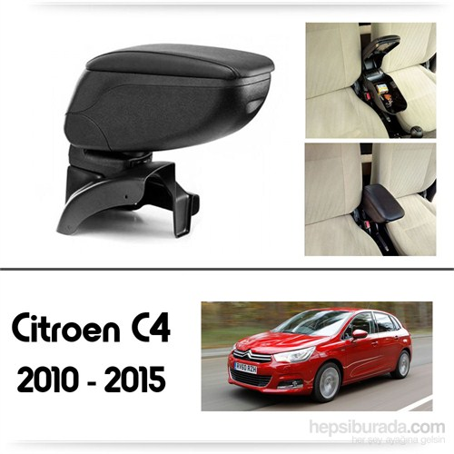 Schwer Citroen C4 2010-2015 Koltuk Arası SİYAH Kol Dayama Kolçağı-8410