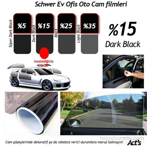 Schwer 100 Cm x 5 Mt Rulo Cam filmi %15 Dark Black-8338