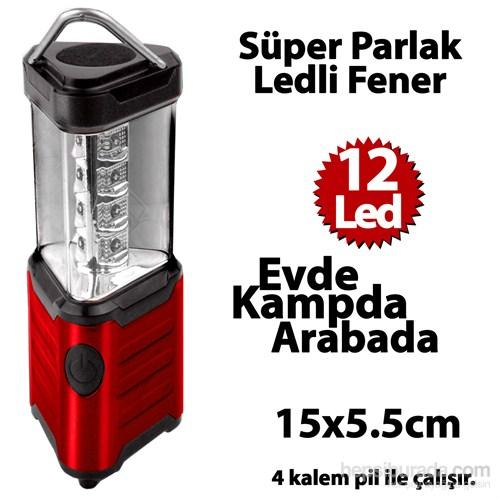 Automix Asmalı Kamp Feneri Kırmızı 12 Led