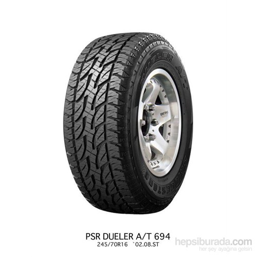 Bridgestone 195/80R15 96T A/T694 Yaz Lastiği