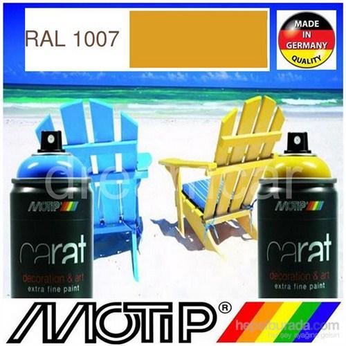 Motip Carat Ral 1007 Parlak Koyu Sarı Akrilik Sprey Boya 400 Ml. Made in Germany 413407