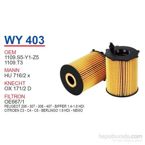 Wunder PEUGEOT 206 - 307 - 308 - 407 - BiPPER 1.4-1.6 HDI Yağ Filtresi OEM NO:1109.S5-Y1-Z5