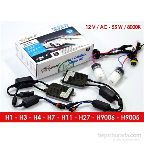 Space Full Canbus Xenon Kit H7-8000K 12V-AC 55W