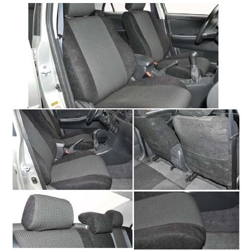 Z tech Toyota Corolla 2002-2007 arası Siyah renk Araca özel Oto Koltuk Kılıfı