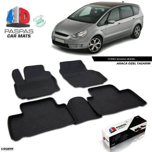 FORD S MAX 4D Havuzlu Paspas A+Kalite