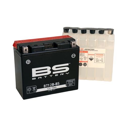 Bs-Battery Bt12b-Bs (Yt12b-Bs) 12V 10Ah 175Cca Agm Bakımsız Motosiklet Aküsü