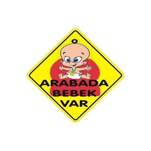 Sticker Masters Arabada Bebek Var Sticker -Sarı Yazı