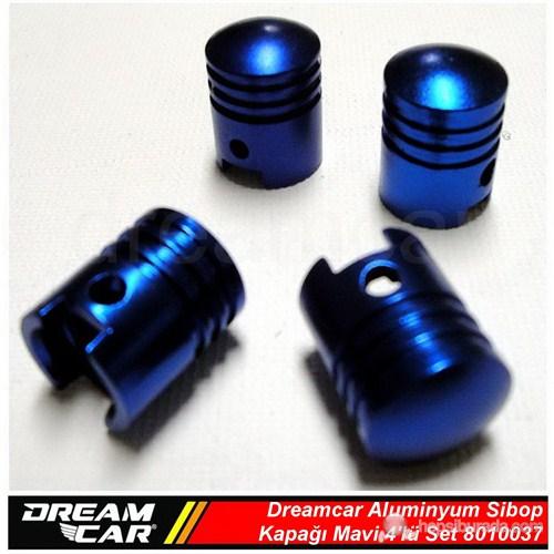 Dreamcar Aluminyum Sibop Kapağı 4'lü Set Mavi 8010037