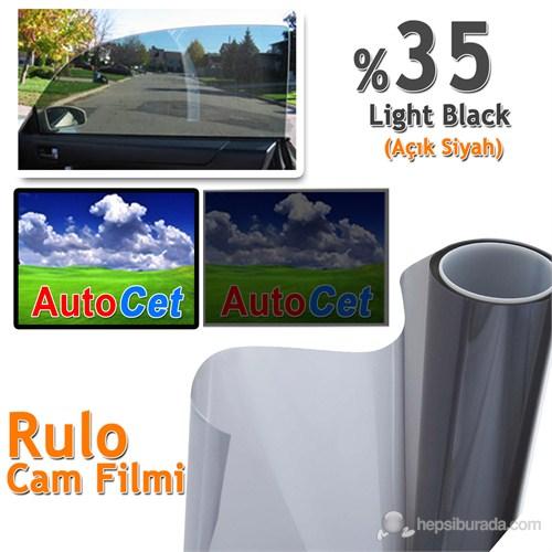 AutoCet 152 cm 60 MT Çizilmez Renkli Rulo Cam Filmi Açık Siyah % 35 Light Black (MADE IN KOREA)