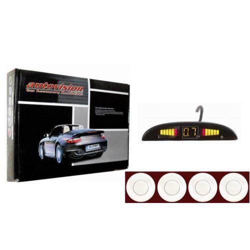 Autovision BEYAZ SENSÖRLÜ Ekranlı Park Sensörü 842283