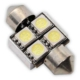 Sofit Ampul 4 LED Beyaz 12V Dc 31Mm Can Bus 2 Adet