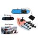 Bluecat Dikiz Ayna Kamerası Ön Kamera 1080P Arka Kamera 720P 170 Derece Ön Görüş 120 Derece Geri Görüş Park Sensörü İlaveli