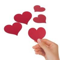 BuldumBuldum Kırmızı Kalp Mesaj Kağıtları - 50'Li