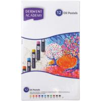 Derwent Academy Yağlı Pastel Boya 12 Renk
