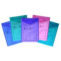 Snopake Polyfile P A4 Dikey Çıtçıtlı Dosya(330X240mm)Karışık Renkler Sp13266