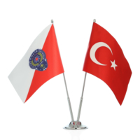 Ekin Bayrakçılık Polis ve Türk Bayrağı İkili Masa Bayrak Takımı