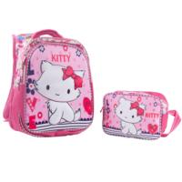 Erkan Çanta Kitty Okul Sırt Çantası-Beslenme Çantalı