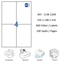 Crea Label Clw-2204 105 X 148.5 Mm Lazer Etiket