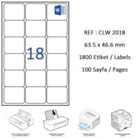 Crea Label Clw-2018 63.5 X 46.6 Mm Lazer Etiket