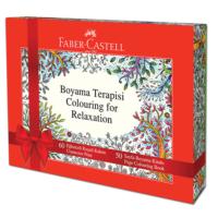 Faber Castell 60 Renk Eğlenceli Keçeli Kalem (5062155066) + 50 Sayfa Boyama Terapisi Kitabı Hediyeli