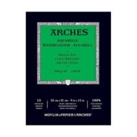 Arches Suluboya Blok Defter - Orta Doku - 300 gr 23 x 31 cm - 12 Yp.