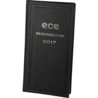 Ece 2017 Rezervasyon Ajandası 17x33 Cm Siyah (Avrasya) Ticari