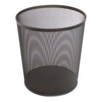 Globox Metal Tam Delikli Çöp Kovası 10 Lt Renk - Siyah