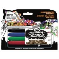 Sharpie Stained Tekstil Markör Kalem 4'lü Paket