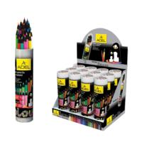 Adel Boya Kalemi 24 Renk Metal Tüp Siyah Lata