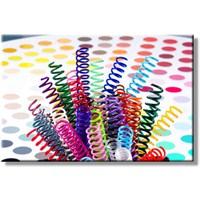Mapicoil 6 mm Plastik Helezon Spiral Beyaz 100 Lü (235 06 00)