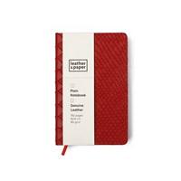 Leather&Paper 9X14 Kırmızı Yılan Baskı Deri Defter