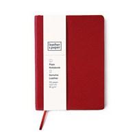 Leather&Paper 12X17 Kırmızı Flotter Deri Defter