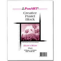 Ponart Creative 25X35 160 Gsm 15 Yaprak 12 Renk Pastel Blok