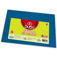 Bu-Bu Simli Karton Mavi 50X70 Bubu-Fk0009