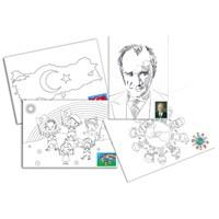 Ceo Art 25X35 Desenli Tuval(Boyasız) (Atatürk,23 Nisan,Dünya Çocukları,Türk Bayrağı) Bubu-Tu0003