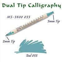 Zig Calligraphy Pen Çift Uçlu Kaligrafi Kalemi 2 Mm - 5 Mm Teal