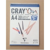 Clairefontaine Resim Defteri Cray'on A4 160Gr 30 Yaprak 966818