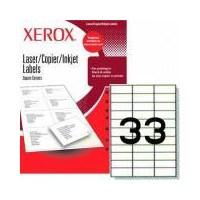 Xerox Lazer Köşeli (70X25) 33 Etiket