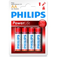 Philips LR6P4B AA 4'lü Alkalin Kalem Pil