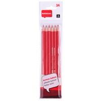 3A Kırmızı Kalem 6'lı Set (Kopya Kalemi)