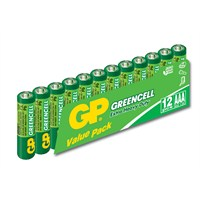 GP 12'li Greencel AAA Boy İnce Çinko Karbon Pil (GP24G-VS12)