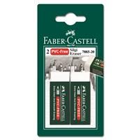 Faber-Castell 2 Plastik Silgi 7085/20 - Beyaz (5500188520)