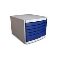 Ops CMC205 5 Çekmeceli Kilitli Evrak Rafı (Mavi)
