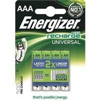 Energizer (E22-6965) Şarjlı 500 Mah AAA İnce Kalem Pil 4Lü Blister