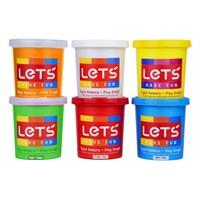 Lets L8350 6 Renk Oyun Hamuru 840 Gr.